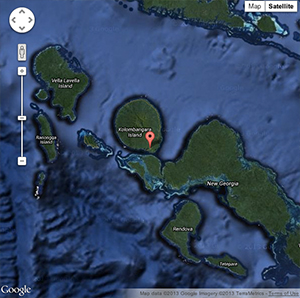 Interactive map of Kolombangara Island - click here