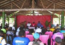 AGM in session in Vaghisea paele