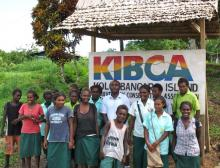 Kolombangara scholarship receipients visit the KIBCA office