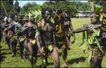 Kolombangara warriors salute VIP party