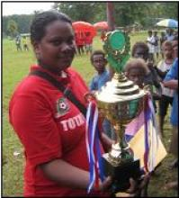 Netball Champions Manighisi receive the KIBCA Cup