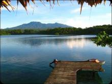 The views from Nusatuva Island. The magnificent Kolombangara volcano and forests within easy reach.